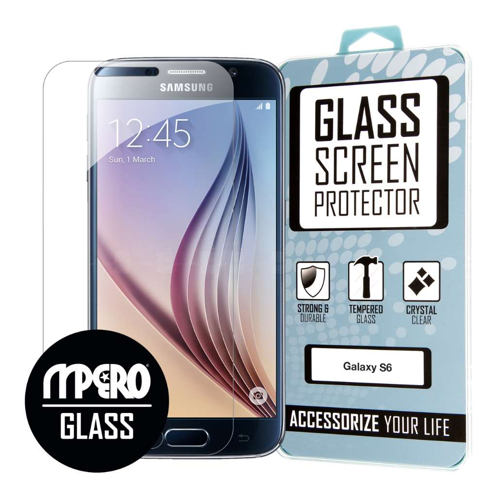 Samsung Galaxy S6 MPERO Full Screen Edge To Edge Tempered Glass Protector