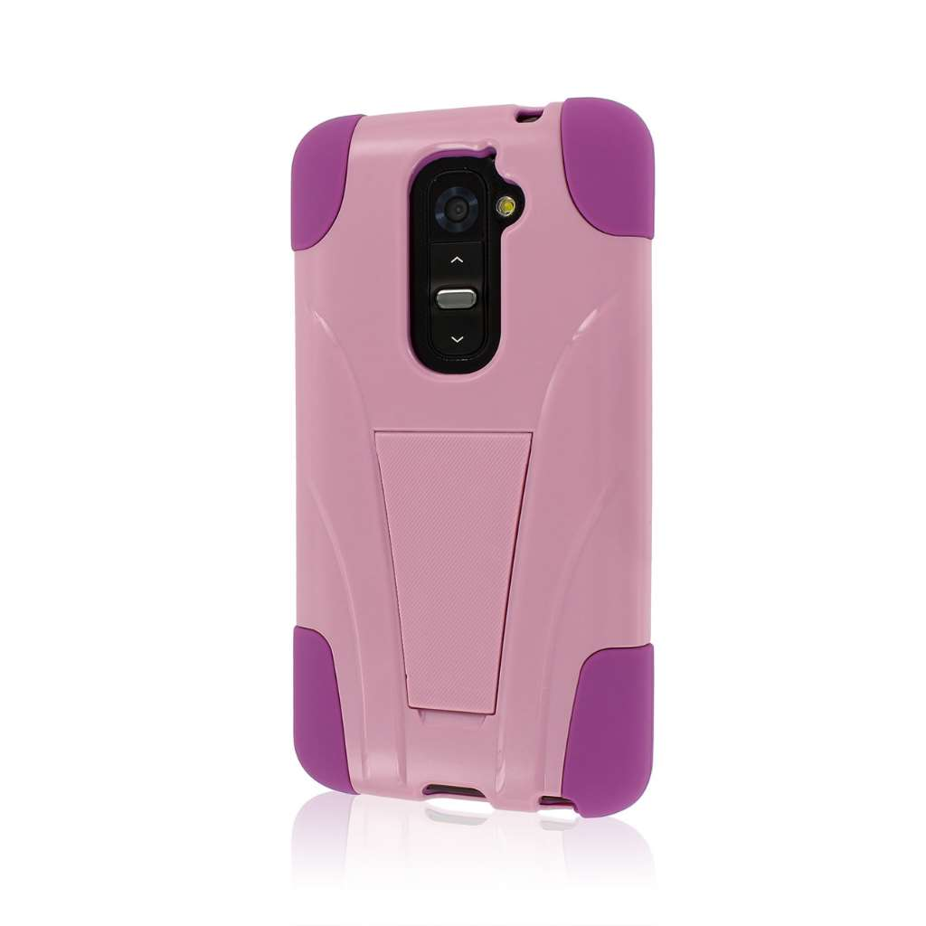 LG G2 - Pink MPERO IMPACT X - Kickstand Case Cover