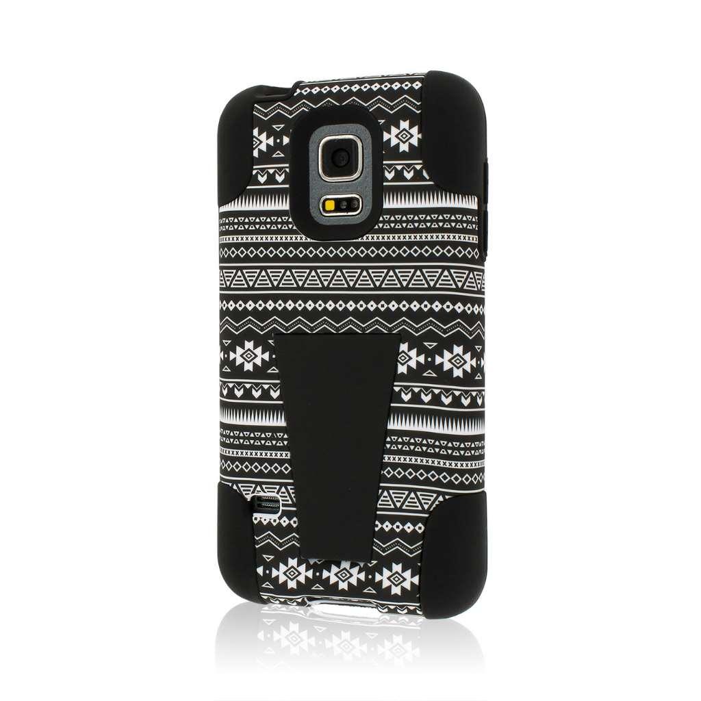 Samsung Galaxy S5 Mini - Black Aztec MPERO IMPACT X - Kickstand Case Cover
