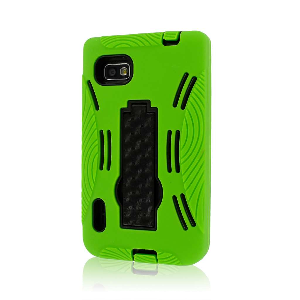 LG Optimus F3 MS659 - Neon Green MPERO IMPACT XL - Kickstand Case Cover