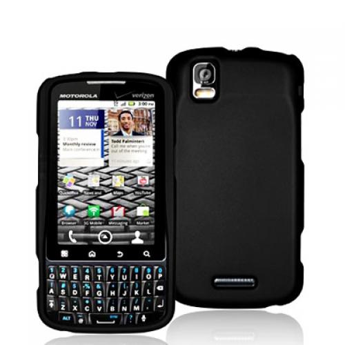 Motorola Droid Pro A957 Black Hard Rubberized Case Cover
