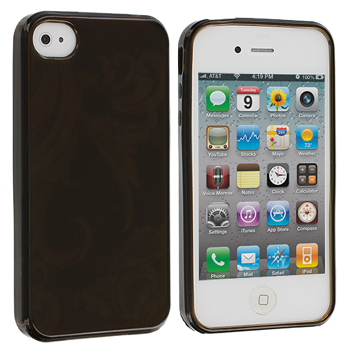 Apple iPhone 4 / 4S Smoke Flower TPU Rubber Skin Case Cover