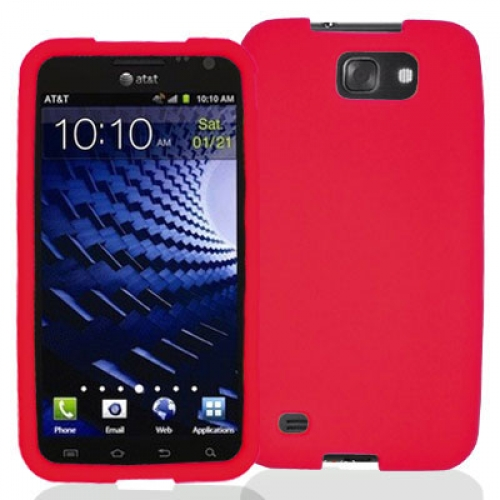 Samsung Skyrocket HD i757 Red Silicone Soft Skin Case Cover