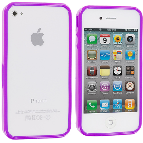 Apple iPhone 4 / 4S Purple Solid TPU Bumper