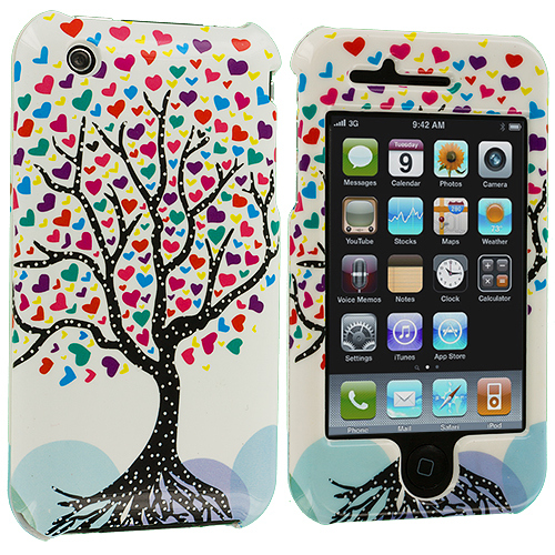 Apple iPhone 3G / 3GS Love Tree (Covered) Design Crystal Hard Case Cover