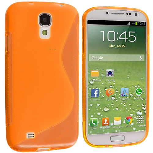Samsung Galaxy S4 Orange S-Line TPU Rubber Skin Case Cover