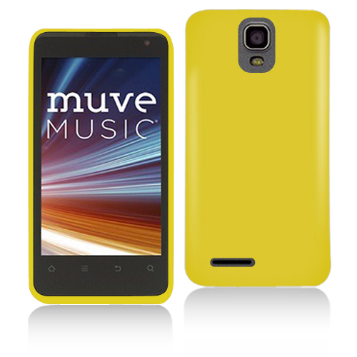 ZTE Engage LT N8000 Yellow Hard Rubberized Case Cover