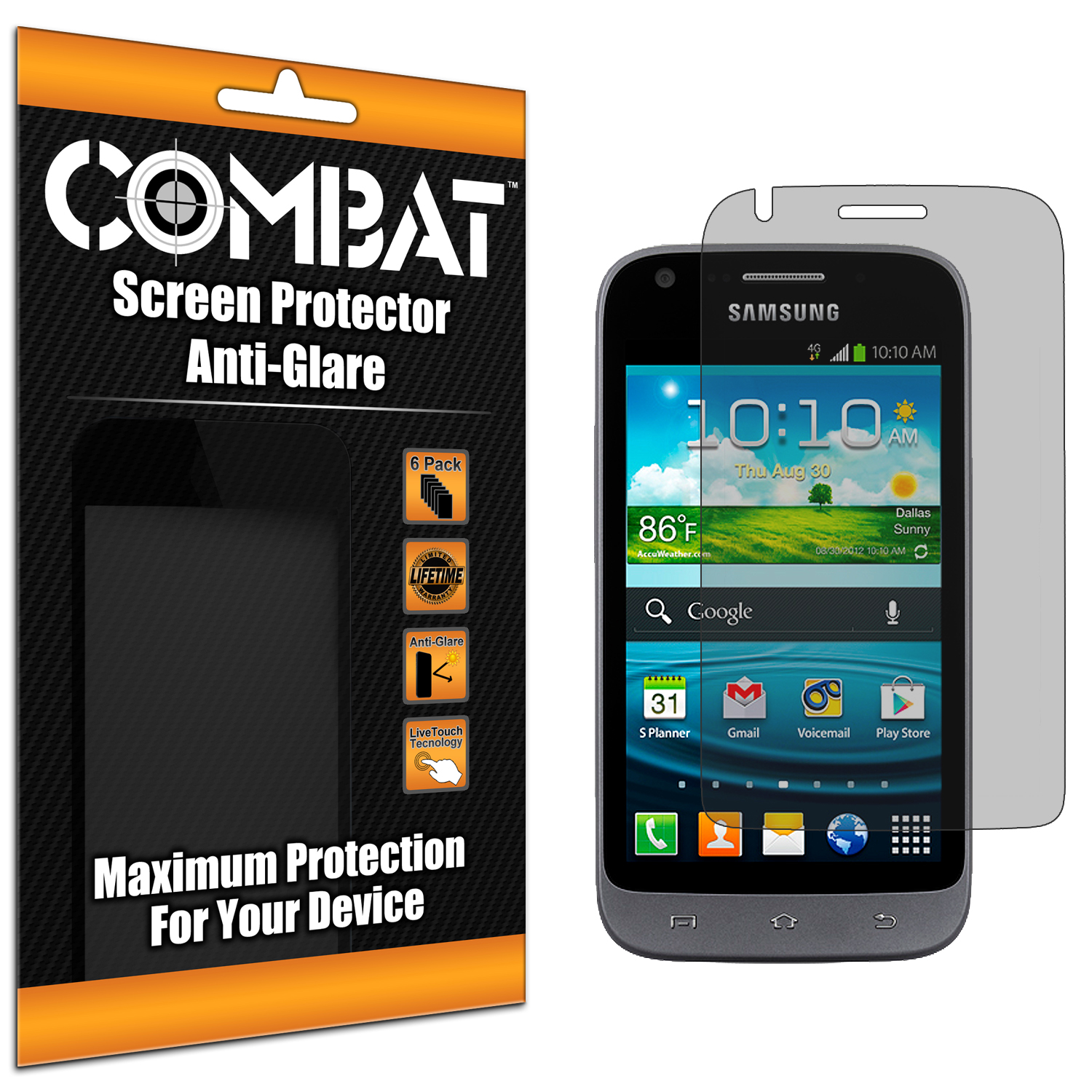 Samsung Galaxy Victory 4G Combat 6 Pack Anti-Glare Matte Screen Protector