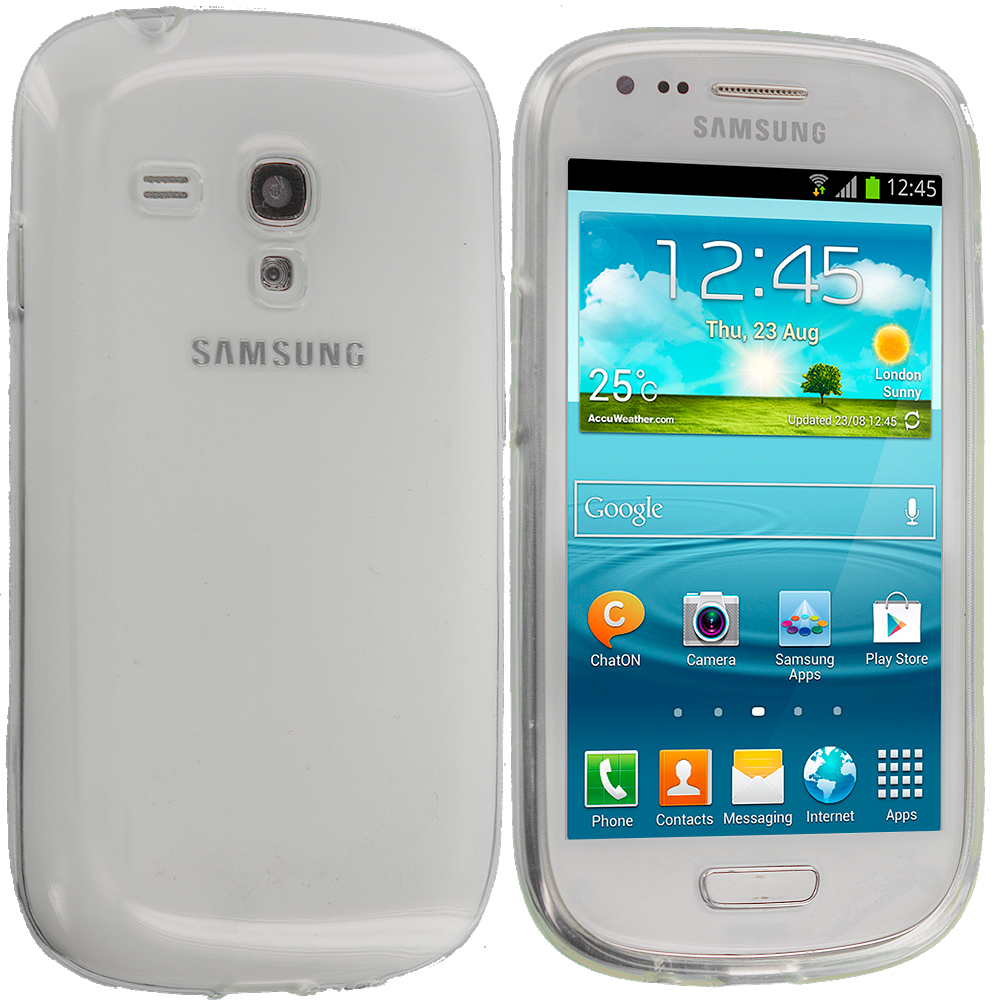 Samsung Galaxy S3 Mini Clear TPU Rubber Skin Case Cover