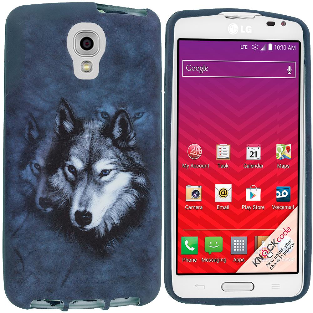 LG Volt LS740 Wolf TPU Design Soft Rubber Case Cover
