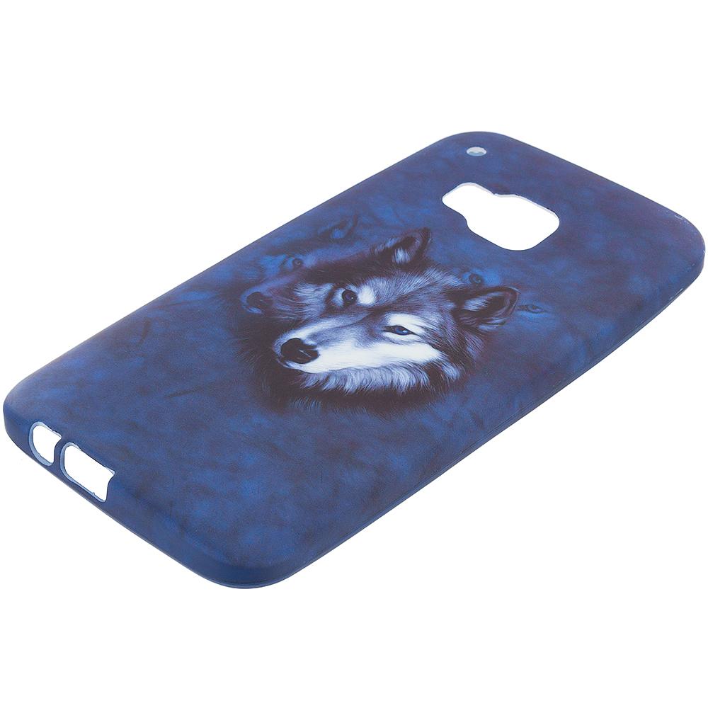 HTC One M9 Wolf TPU Design Soft Rubber Case Cover