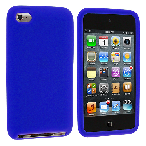Apple iPod Touch 4th Generation Blue Silicone Soft Skin Case Cover