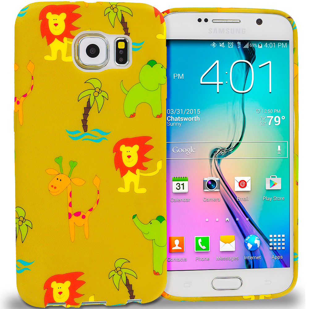 Samsung Galaxy S6 Edge Zoo TPU Design Soft Rubber Case Cover
