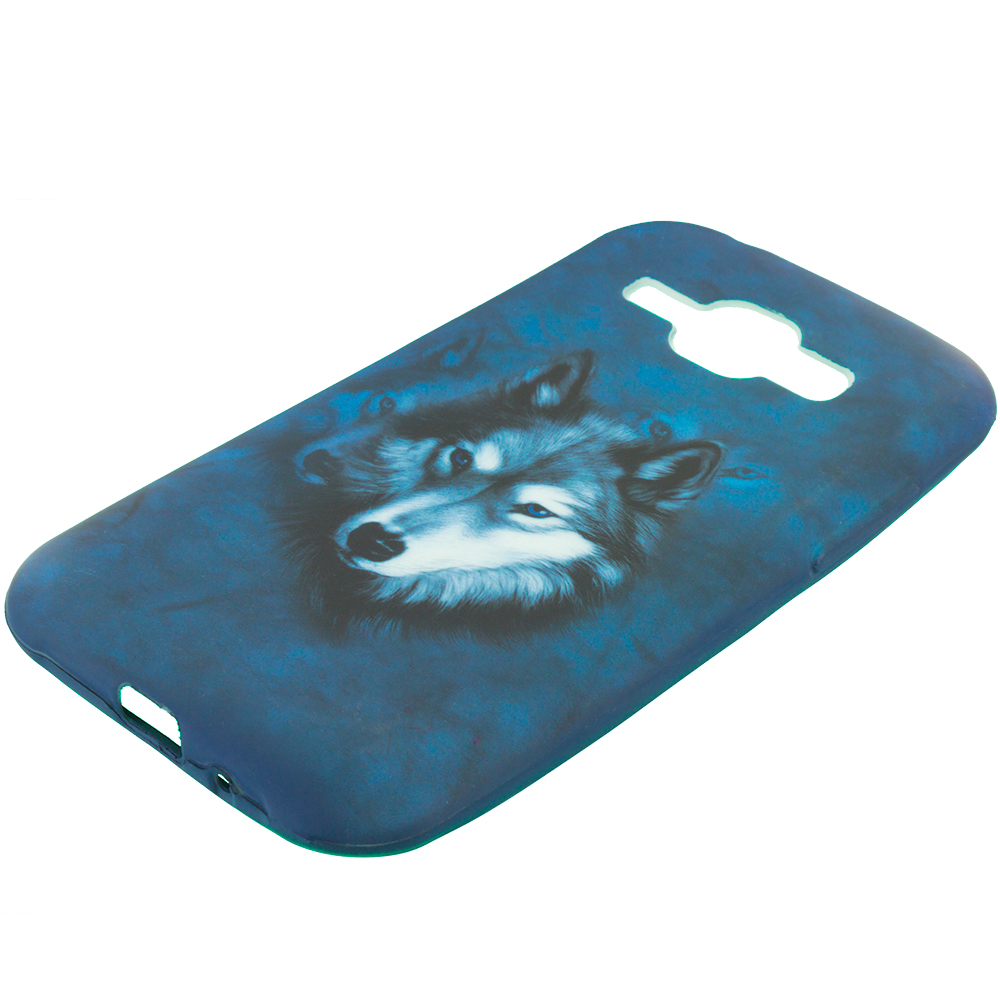 Samsung Galaxy J1 Wolf TPU Design Soft Rubber Case Cover