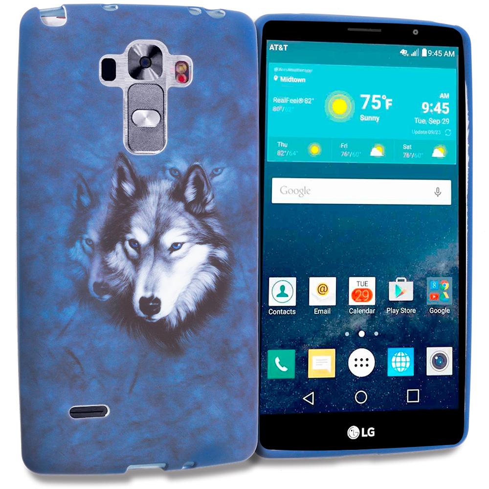 LG G Vista 2 Wolf TPU Design Soft Rubber Case Cover