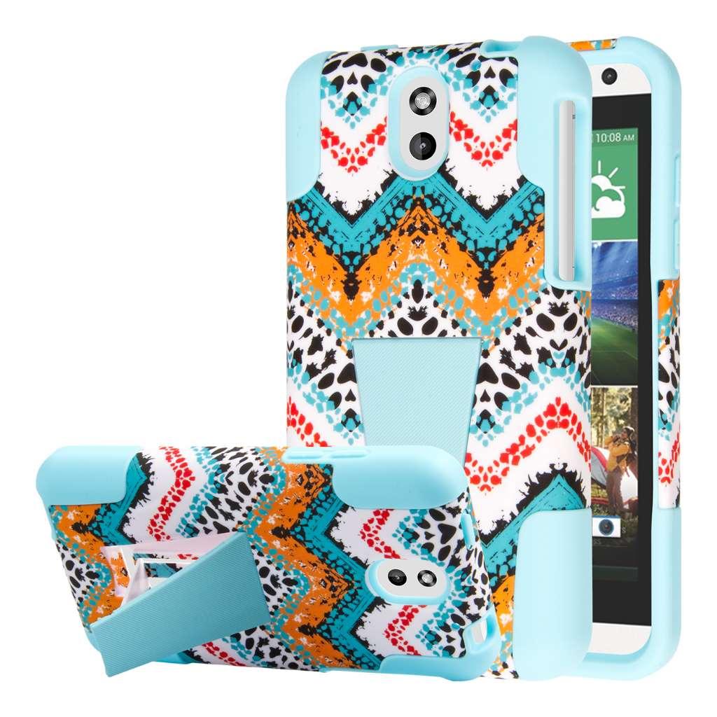 HTC Desire 610 - Aqua Safari MPERO IMPACT X - Kickstand Case Cover