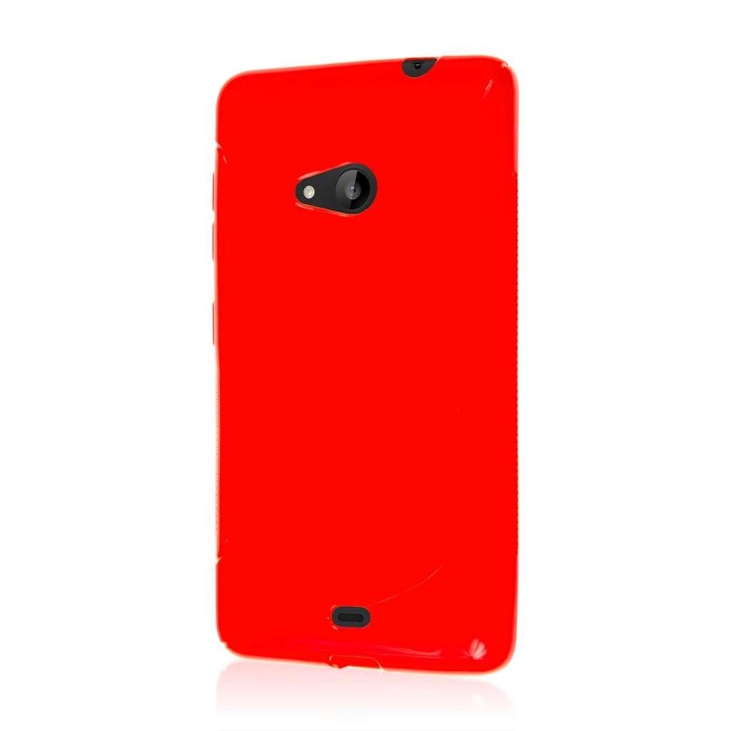 Microsoft Lumia 535 - Red MPERO FLEX S - Protective Case Cover