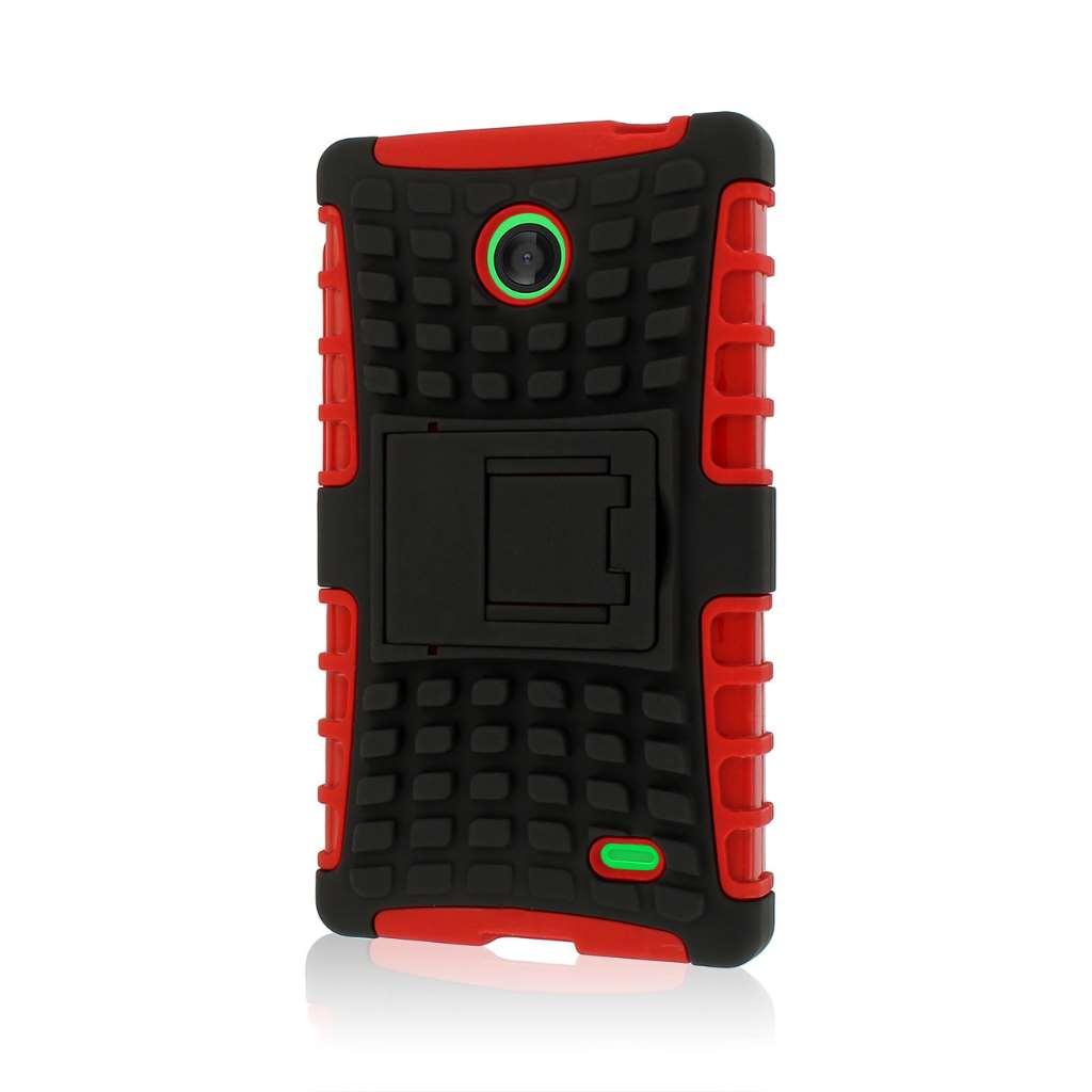 Nokia X - Red MPERO IMPACT SR - Kickstand Case Cover