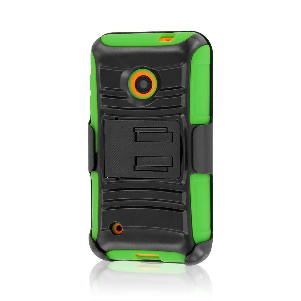 Nokia Lumia 530 - Neon Green MPERO IMPACT XT - Kickstand Case Cover