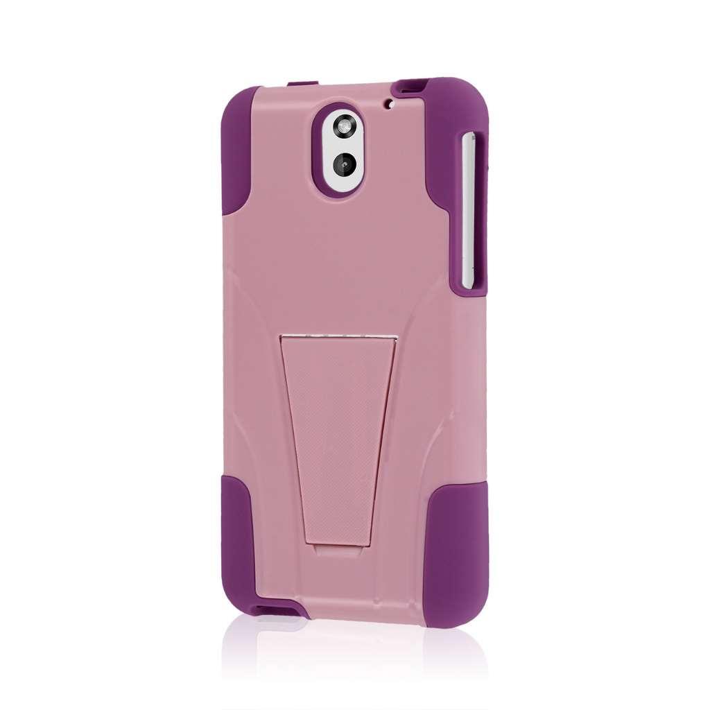 HTC Desire 610 - Pink MPERO IMPACT X - Kickstand Case Cover