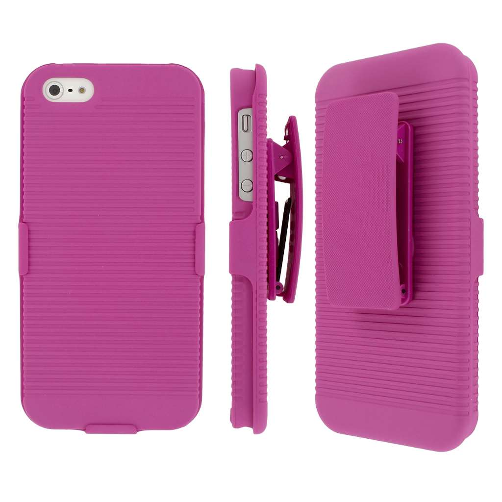 Apple iPhone 5/5S/SE MPERO 3 in 1 Tough Kickstand Case Cover