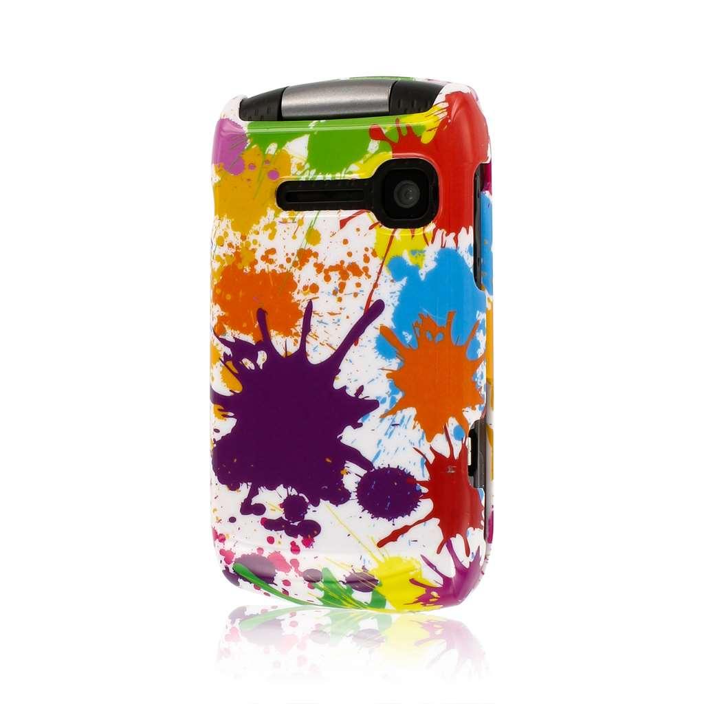 Kyocera Coast/ Kona - White Paint Splatter MPERO SNAPZ - Glossy Case Cover