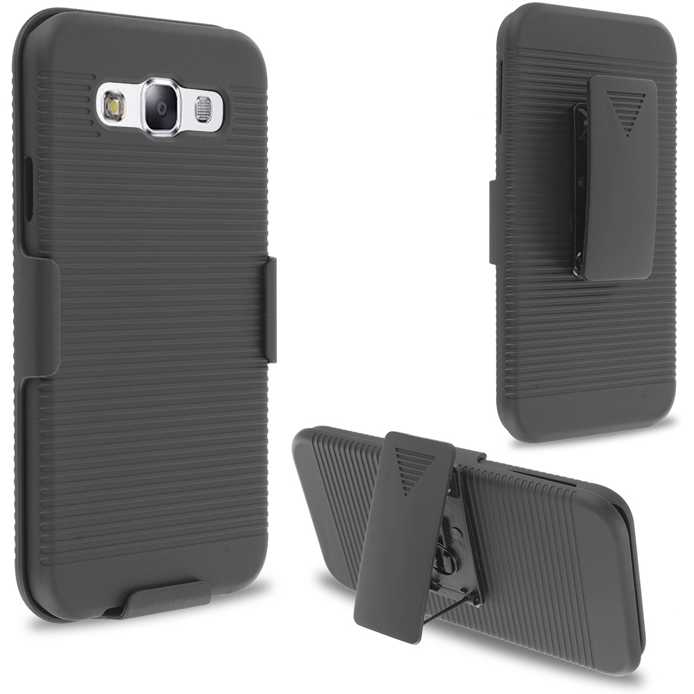 Samsung Galaxy E5 S978L Black Belt Clip Holster Hard Case Cover