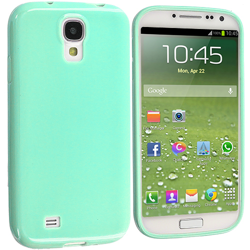 Samsung Galaxy S4 Mint Green Solid TPU Rubber Skin Case Cover