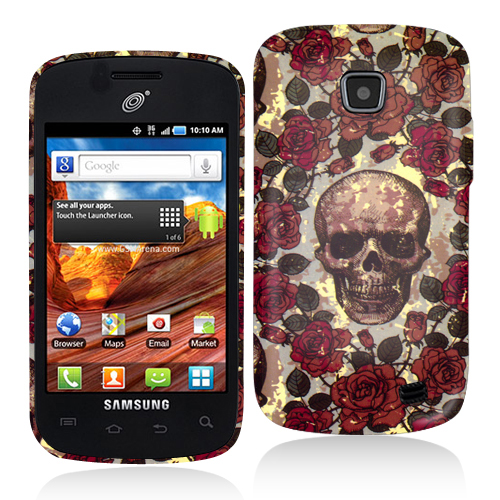 Samsung Proclaim S720C Gorgeous Skull Hard Rubberized Design Case Cover
