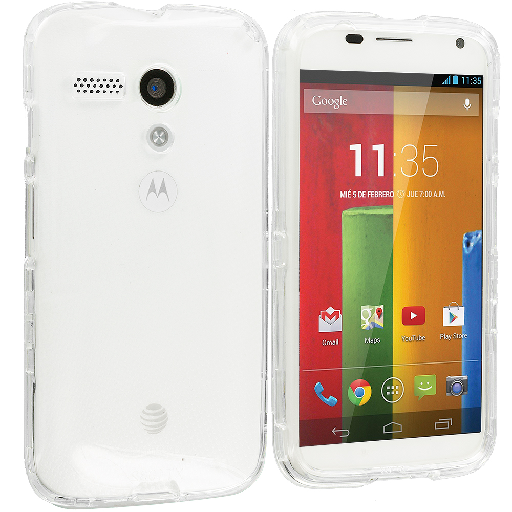 Motorola Moto G Clear Crystal Transparent Hard Case Cover