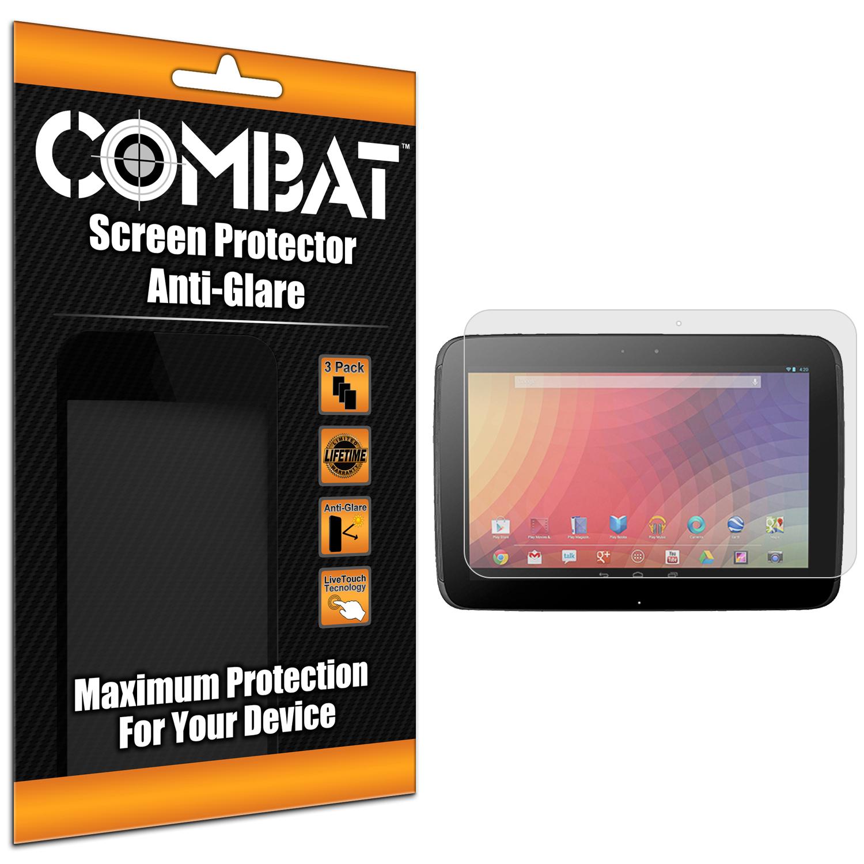 Samsung Google Nexus 10 Combat 3 Pack Anti-Glare Matte Screen Protector