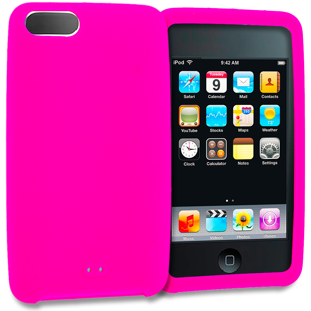 Apple iPod Touch 3rd 2nd Generation Hot Pink Silicone Soft Skin Rubber Case Cover