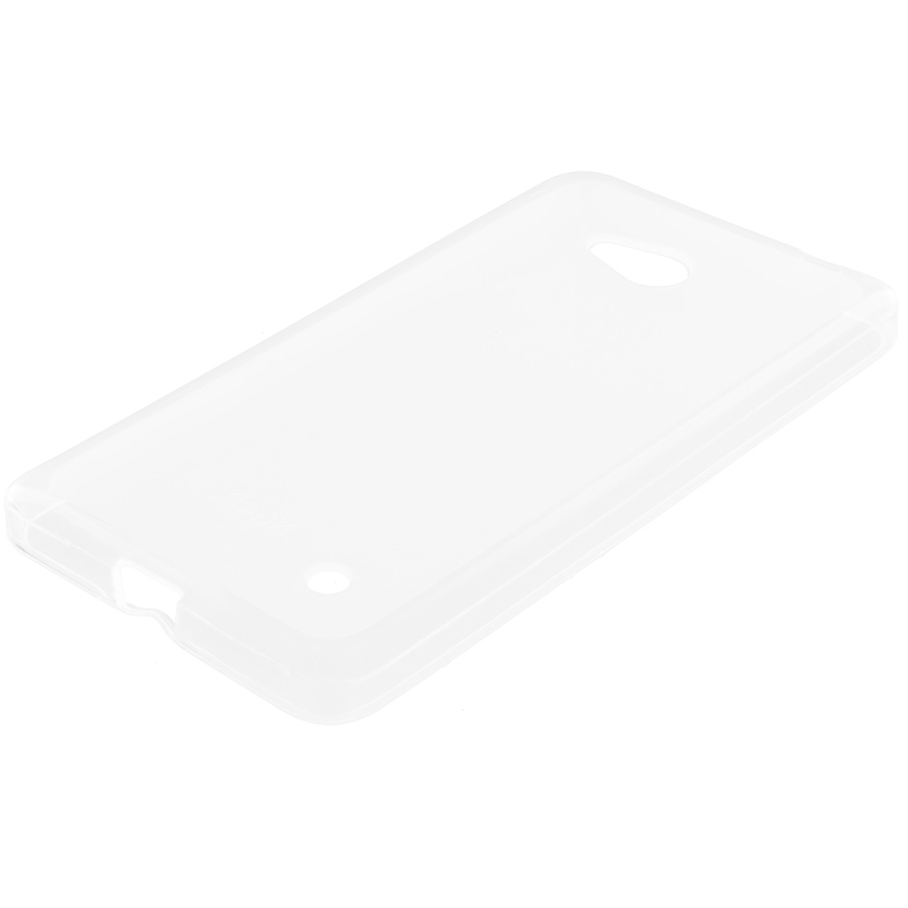 Microsoft Lumia 640 2 in 1 Combo Bundle Pack - Clear TPU Rubber Skin Case Cover : Color Clear