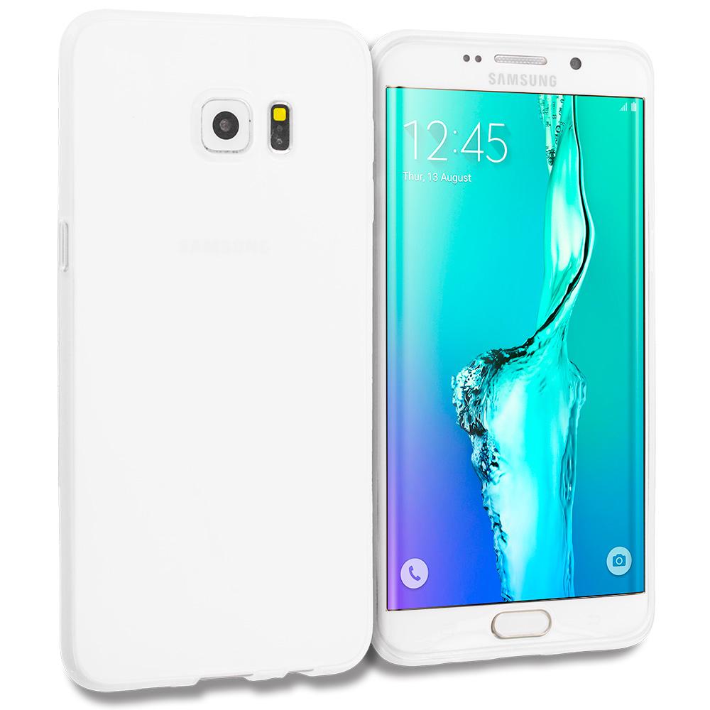Samsung Galaxy S6 Edge Plus + Clear TPU Rubber Skin Case Cover