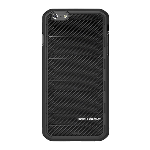 iPhone 6/6S Plus - Black Carbon Fiber BodyGlove Rise Case Cover