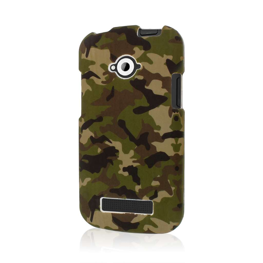BLU Tank 4.5 - Green Camo MPERO SNAPZ - Rubberized Case Cover