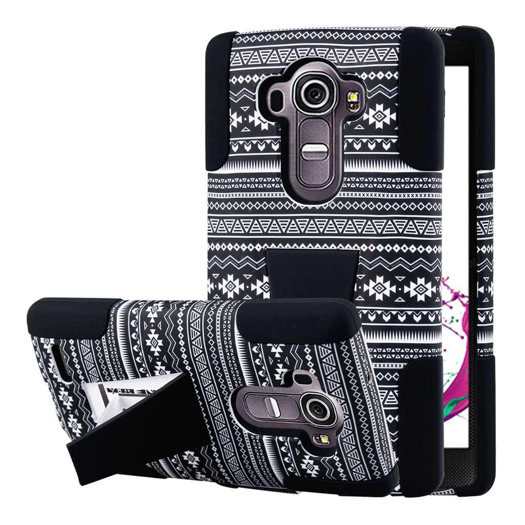 LG G4 - Black Aztec MPERO IMPACT X - Kickstand Case Cover