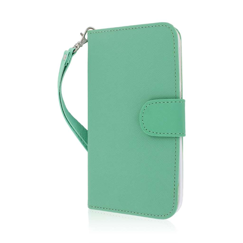 BLU Studio 5.5 - Mint MPERO FLEX FLIP Wallet Case Cover