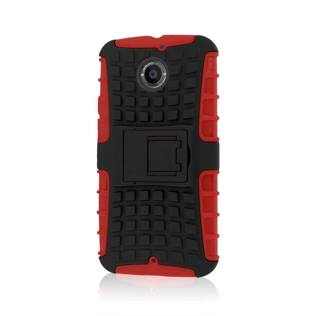 Motorola Moto X 2014 2nd Gen - Red MPERO IMPACT SR - Kickstand Case Cover