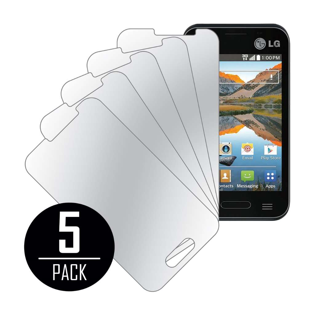 LG Optimus Zone 2 MPERO 5 Pack of Mirror Screen Protectors