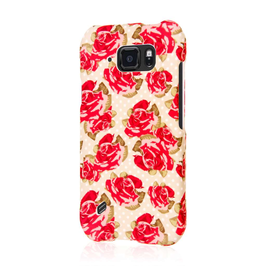 Samsung Galaxy S6 Active - Vintage Red Roses MPERO SNAPZ - Case Cover