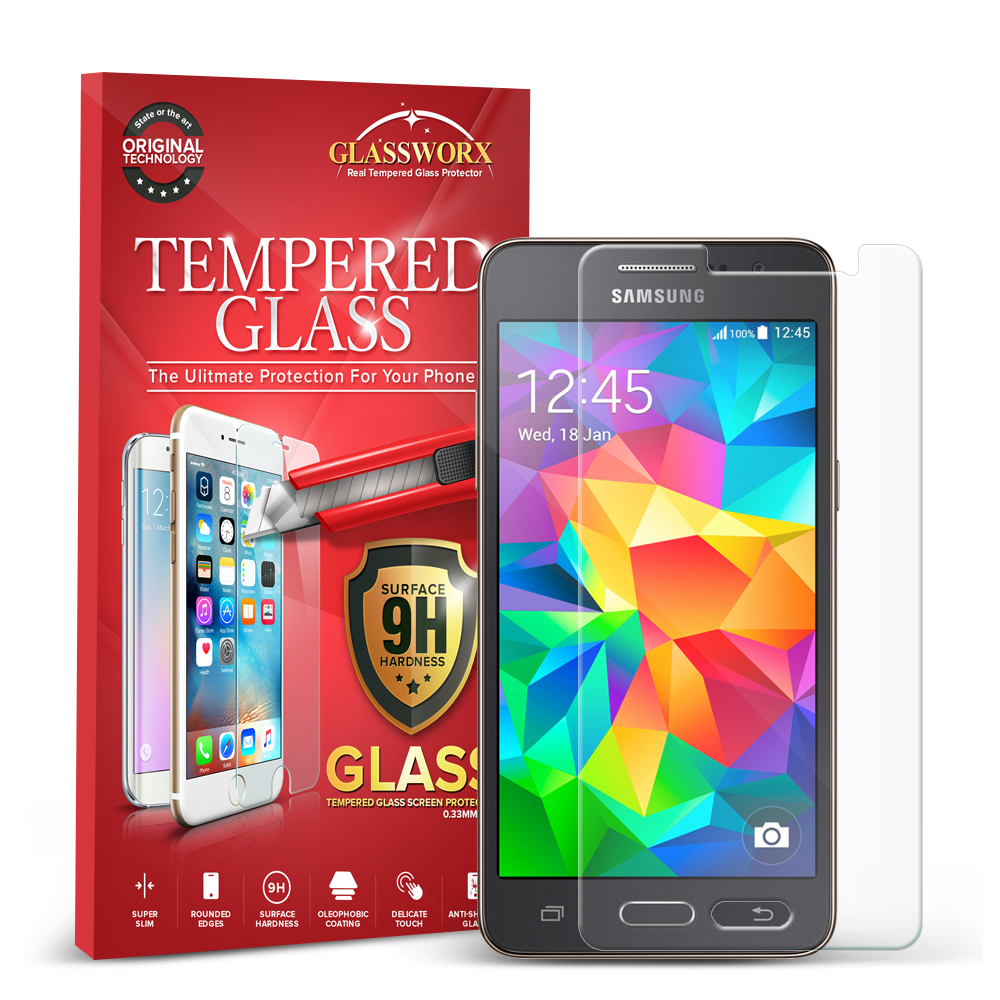 Samsung Galaxy Grand Prime LTE G530 GlassWorX HD Clear Tempered Glass Screen Protector