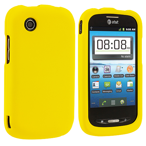 ZTE Avail Z990 Yellow Hard Rubberized Case Cover