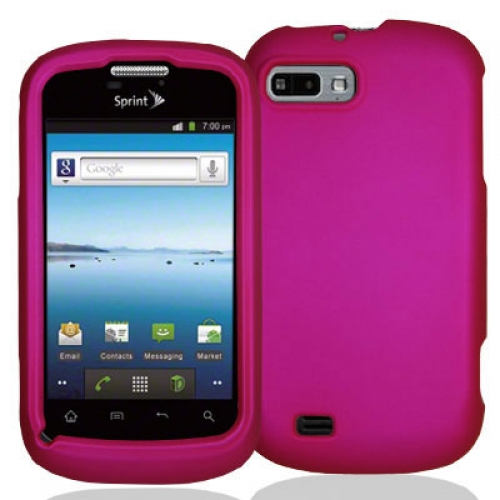 ZTE Fury N850 Hot Pink Hard Rubberized Case Cover