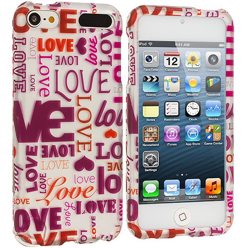 Apple iPod Touch 5th 6th Generation Lots Of Love Hard Rubberized Design Case Cover