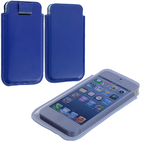 Apple iPhone 5/5S/SE Combo Pack : Blue Sleeve Pouch : Color Blue