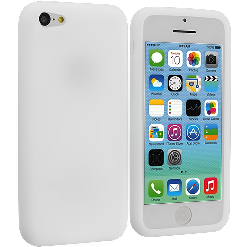 Apple iPhone 5C White Silicone Soft Skin Case Cover