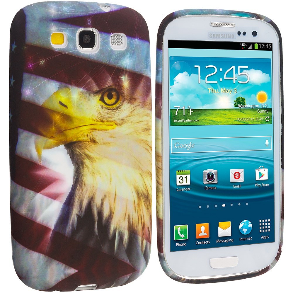 Samsung Galaxy S3 Eagle TPU Design Soft Case Cover