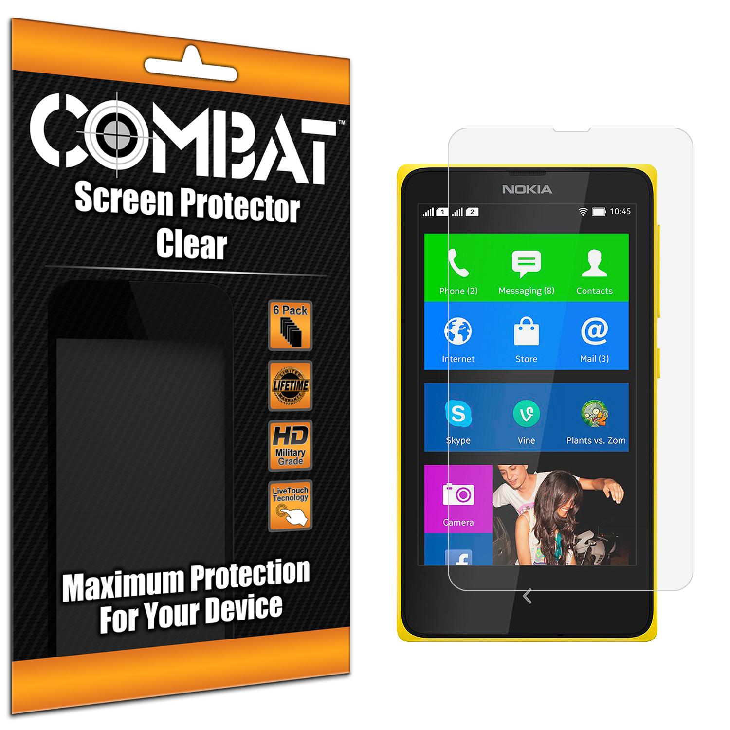 Nokia X Combat 6 Pack HD Clear Screen Protector