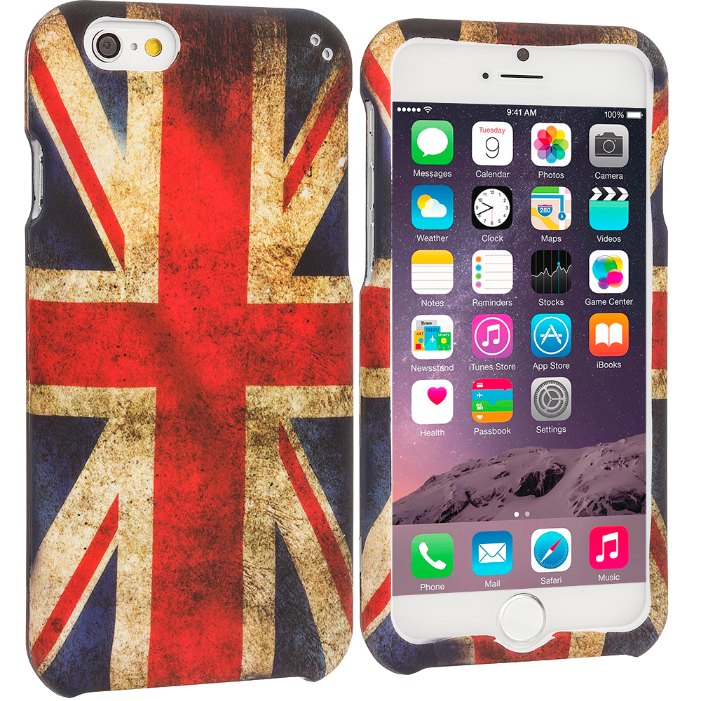 Apple iPhone 6 6S (4.7) The Union Flag Hard Rubberized Design Case Cover
